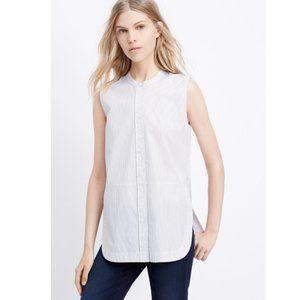 Vince Poplin Tunic Top Shirt Medium M Sleeveless